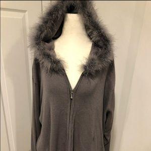 Victoria Jones hooded knit zipped sweater 3X NWT